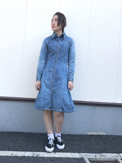 【USED】 LandLubber Denim Shirt Dress Blue