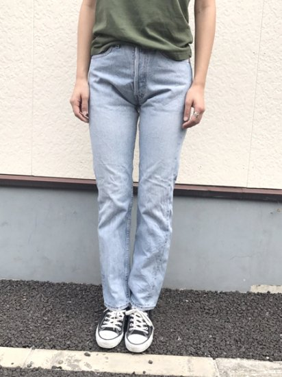 【USED】Levi's #501 JEANS DENIM PANTS Ice Blue W27 L30.5