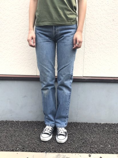 【USED】Levi's #501 JEANS DENIM PANTS Blue W28 L31 Made in U.S.A