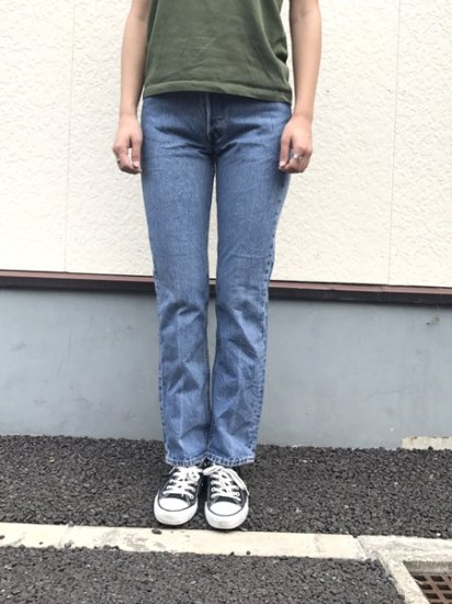 【USED】Levi's #501 JEANS DENIM PANTS Blue W26 L30 Made in U.S.A