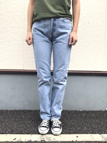 【USED】Levi's #501 JEANS DENIM PANTS Ice Blue W29 L31.5 Made in U.S.A