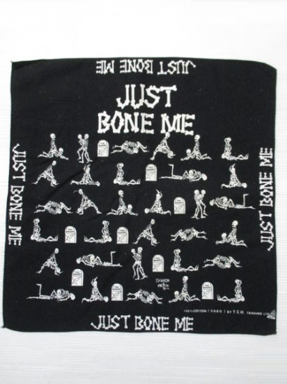 【USED】JUST BONE ME Bandana Black