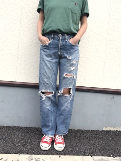 【USED】 VINTAGE LEVI'S BIG E #501xx JEANS DENIM PANTS Blue W31 L28.5 Made in U.S.A