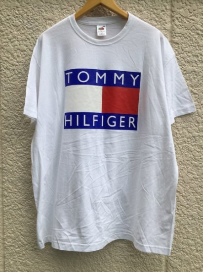 【USED】 BOOTLEG TOMMY HILFIGER T-SHIRT WHITE (L)