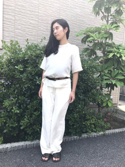 【USED】Yves St. Clair Design Shirt Blouse Off White
