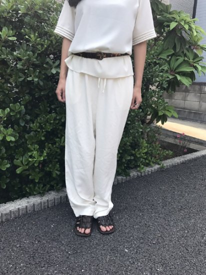 【USED】Soft Surroundings Silk Easy Pants Off White W30〜W34 L30