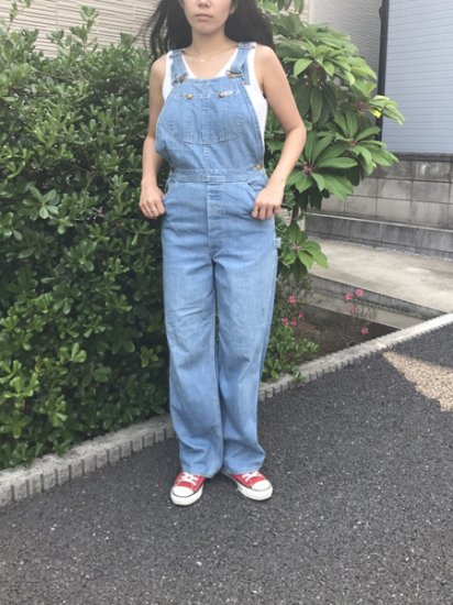 【USED】 70's VINTAGE Lee Denim Overall Ice Blue Made in U.S.A