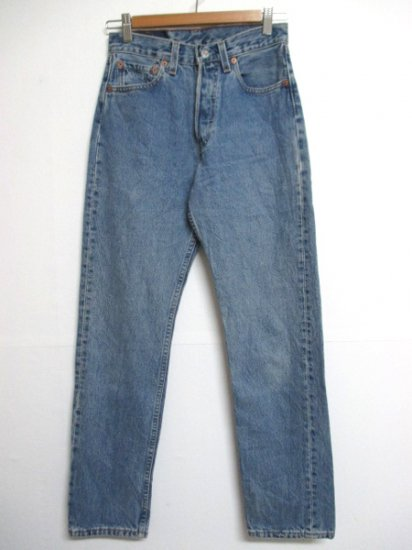 【USED】Levi's #501 JEANS DENIM PANTS Blue W27 L30 Made in U.S.A