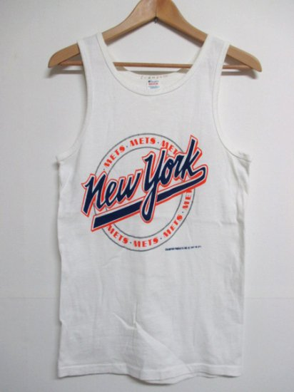 【USED】80's Champion New York Mets Tank top White M Made in U.S.A