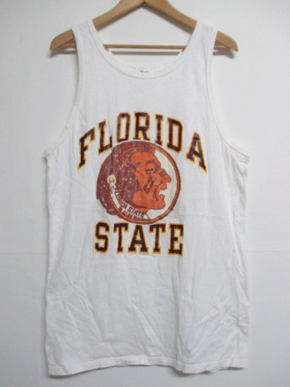 【USED】80's Champion FLORIDA STATE Tank top White XL Made in U.S.A
