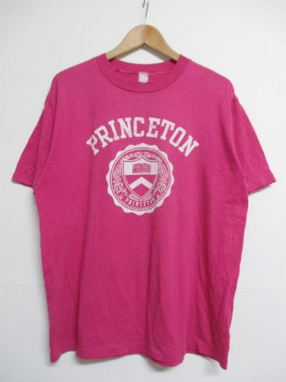 【USED】PRINCETON University College Print Tee T-SHIRT Pink