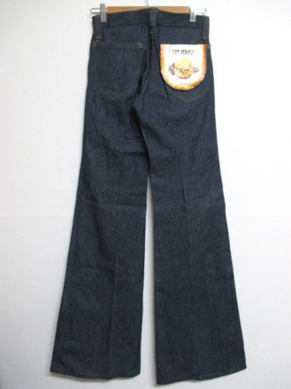 【DEADSTOCK】80's VINTAGE Lee Flare Denim Pants W28 L36.5