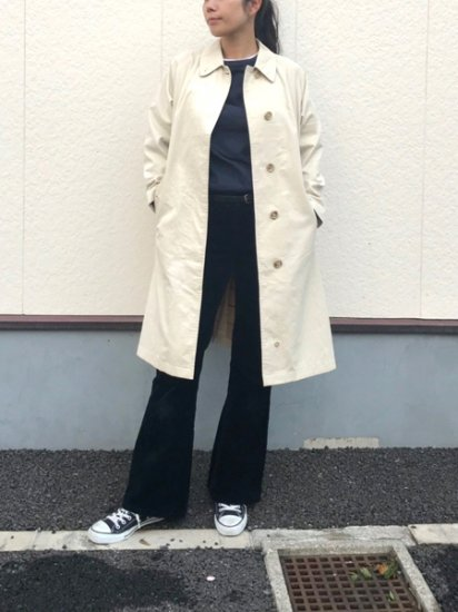 【USED】 Burberrys Sten Collar Coat White Beige Made in ENGLAND