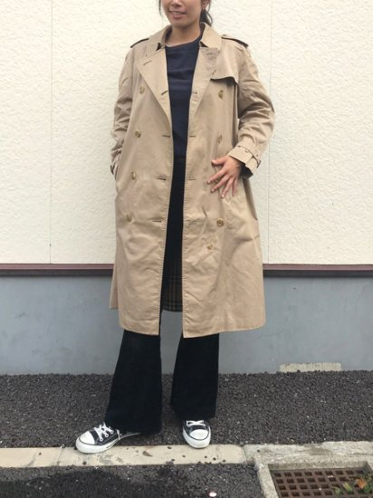 【USED】 Burberrys Trench Coat Beige Made in ENGLAND