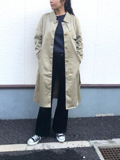 【USED】 Burberrys Sten Collar Coat Beige