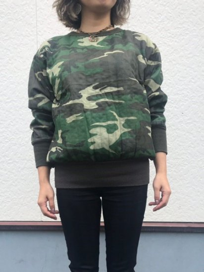 【USED】 SAFTBAK Camouflage QUILTING THAERMAL Green Made in U.S.A