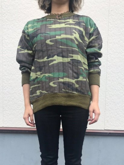 【USED】 Camouflage QUILTING THAERMAL Green L Made in U.S.A