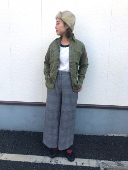 【USED】 60's Vintage Official Boyscout Shirt Olive Green