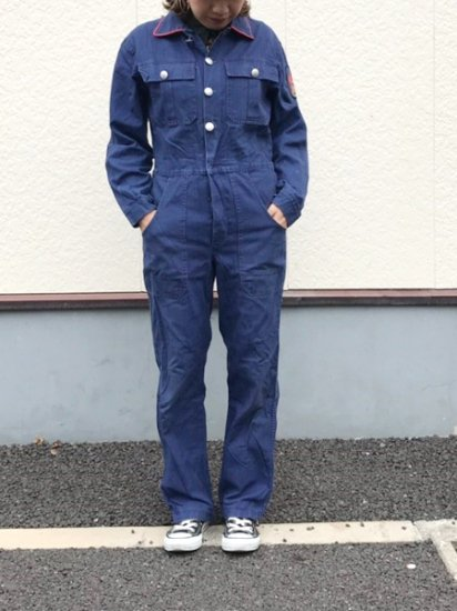 【USED】 Liegler Euro Work Jumpsuits ALL IN ONE Navy