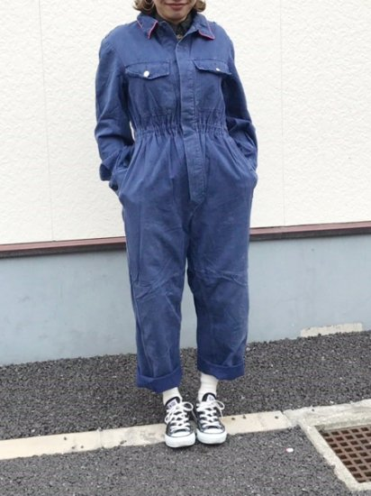 【USED】 Echt Kydronblau Euro Work Jumpsuits ALL IN ONE Navy