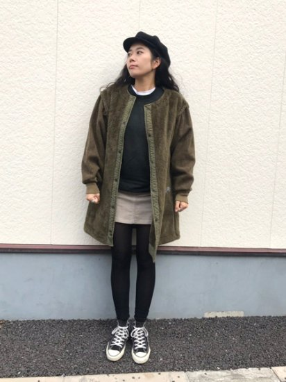 【USED】 VINTAGE Military Boa Liner Coat Olive Green