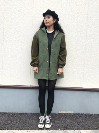 【USED】 66's VINTAGE Military Boa Liner Coat Olive Green M