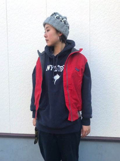 【USED】 80's Patagonia Nylon × Fleece Vest Red M Made in U.S.A