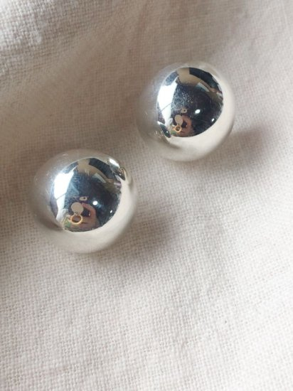 【NEW】925 SILVER DOME<br>EARRINGS-L