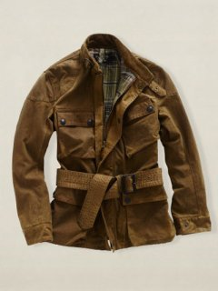 【NEW】RRL Ralph Lauren BROWN OIL CLOTH HIGLAND JACKET