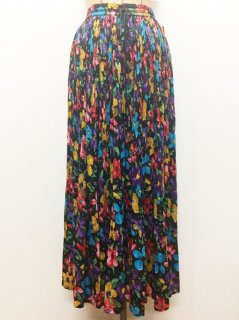 【USED】INDIA FLOWER LONG SKIRT
