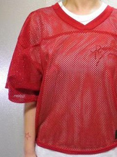 【USED】MESH Tee 6 (RED)