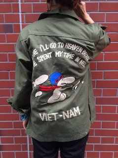 【USED】RE-MAKE SNOOPY MILITARY SHIRT