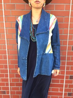 【USED】 70's TEXTILE + DENIM JACKET