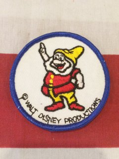 【DEAD STOCK】1970's-1980's DISNEY SEVEN DWARFS PATCH