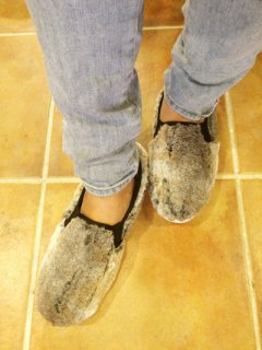 【NEW】O'kyti FAUX FUR SLIP-ON Made in Spain RABBIT