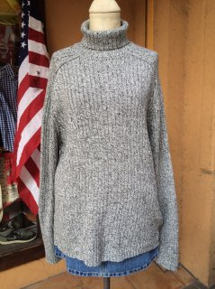 【USED】TURTLENECK RIB COTTON SWEATER