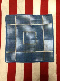 【USED】VINTAGE POLKA DOT BANDANA BLUE
