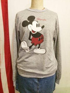 【USED】OLD Mickey Mouse Sweat Shirt MADE IN U.S.A