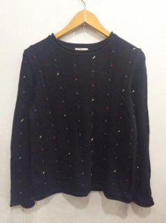 【USED】COTTON CABLED SWEATER