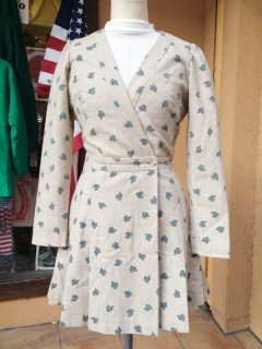 【USED】VINTAGE KASHUKURU MINI DRESS