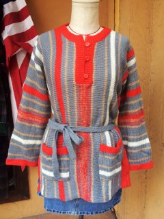 【USED】70's STRIPE SWEATER