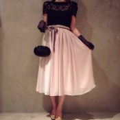 Three colors Chiffon Skirt / Pale Pink (シフォンスカート)