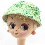 Vintage Green Flower Head Dress (ヴィンテージ グリーン フラワー ヘッドドレス)