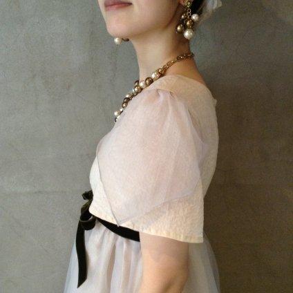 Layerd Dress / Ivory×Silver