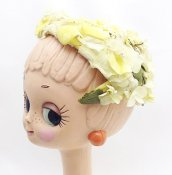 Vintage Flower Head Dress (ヴィンテージ フラワー ヘッドドレス) イエロー