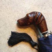 Guy de Jean (ギドゥジャン) 折りたたみ傘 犬 Navy