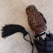 Guy de Jean(ギドゥジャン)折りたたみ傘 フクロウ Black