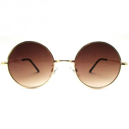 Loyd Sunglasses(丸眼鏡) for Japanese Gold×Brown Half