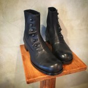 BEAUTIFUL SHOES(ビューティフルシューズ)Buttoned Sidegore Boots Black