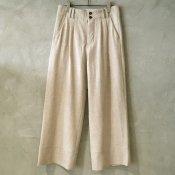 【40%OFF】suzuki takayuki full-cut pants (スズキタカユキ フルカットパンツ) Nude